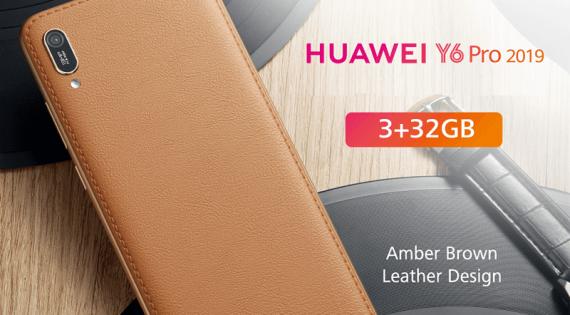 Huawei Y6 Pro 2019 Güzel Hazırlanmış Kehribar Kahverengi Deri Kılıf